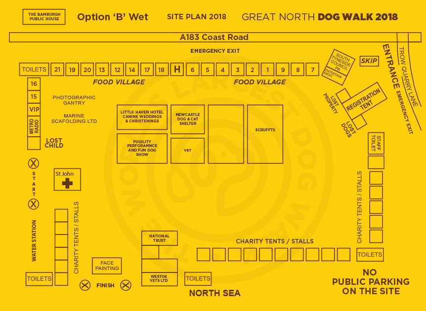 SITE PLAN OPTION -B- WET DAY